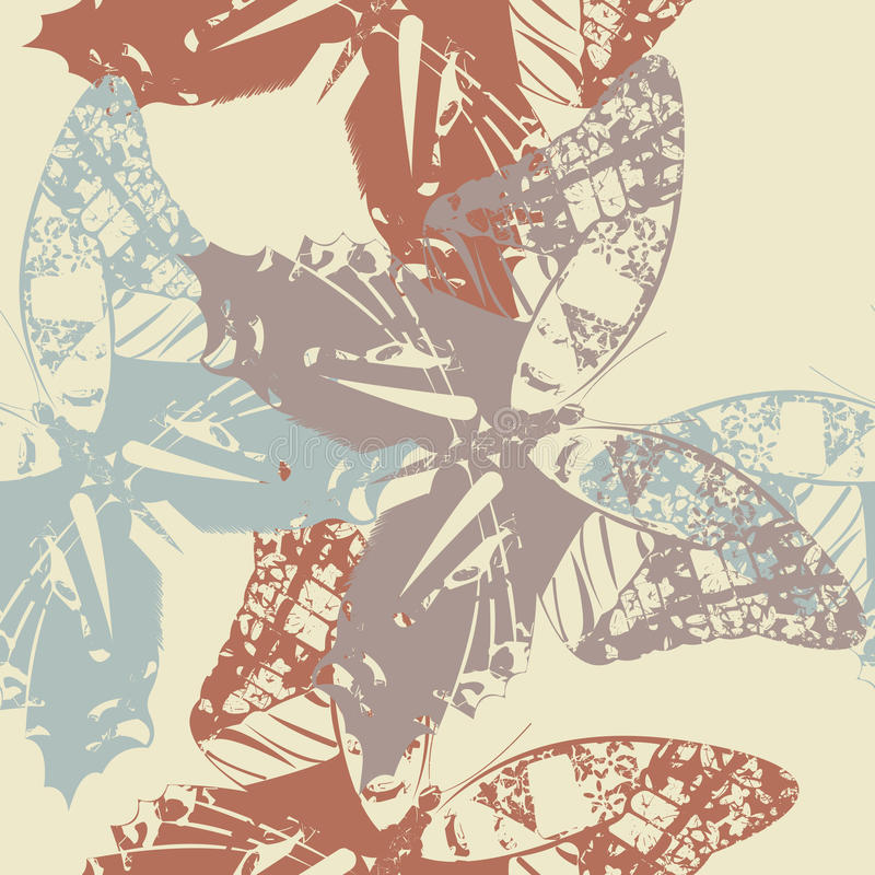 Retro seamless pattern with stylish butterfly's. Stylish template can be used for your design wallpapers, web page backgrounds, surface textures, textile vector illustration