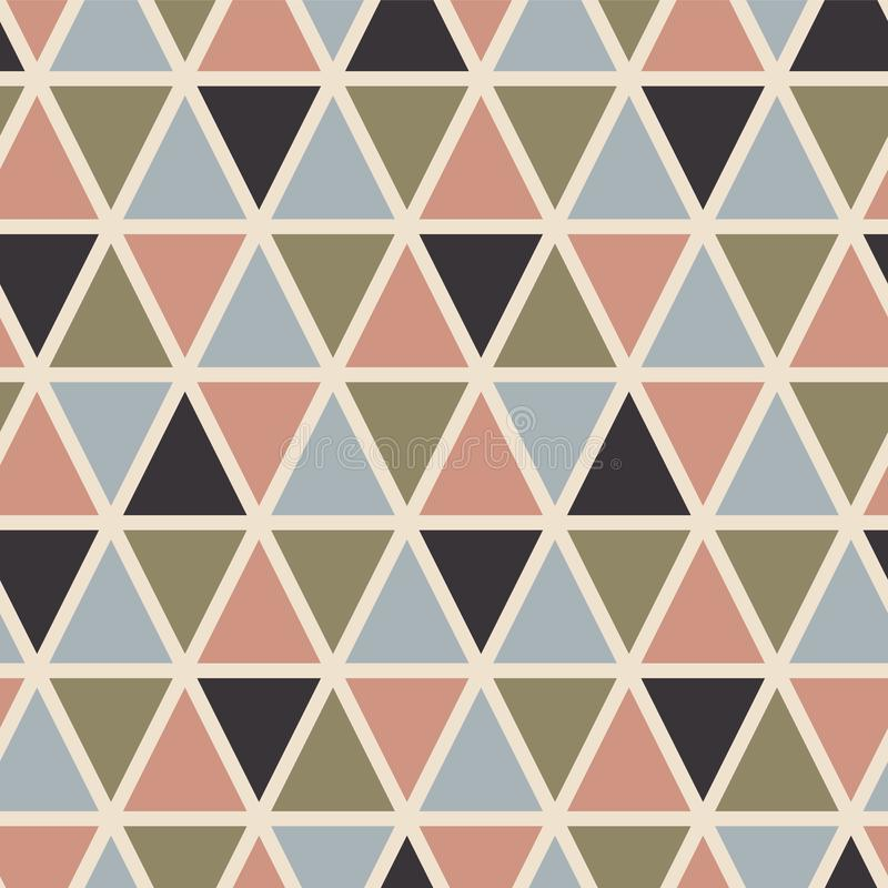 Retro seamless pattern with triangles. Scandinavian style. vector illustration