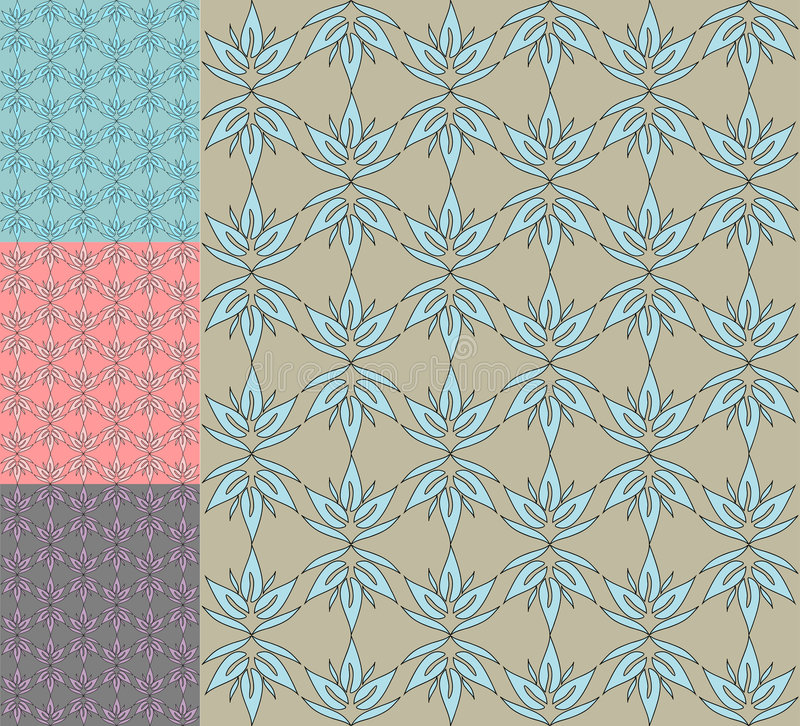 Retro Seamless Pattern / Vector Stock Images