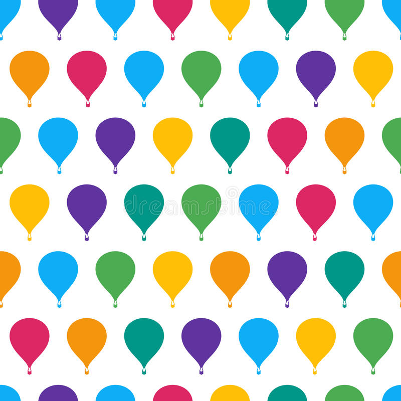 Retro seamless travel pattern of balloons royalty free illustration