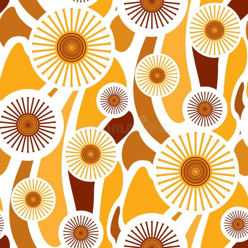 retro seamless wallpaper διανυσματική απεικόνιση
