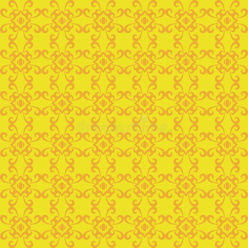 Download Retro Seamless Wallpaper Background Vintage Yellow Spiral Curve Stock Vector