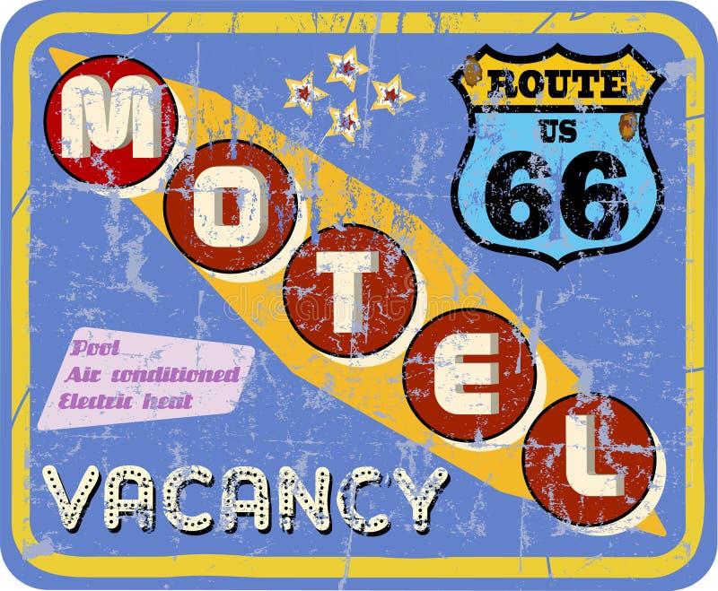 Retro segno del motel, illustrazione vettoriale