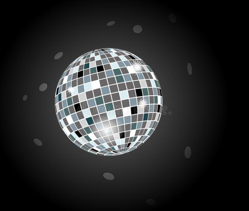 Retro sfera della discoteca del partito illustrazione di stock