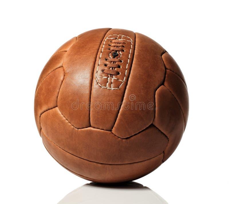Retro sfera di calcio immagini stock