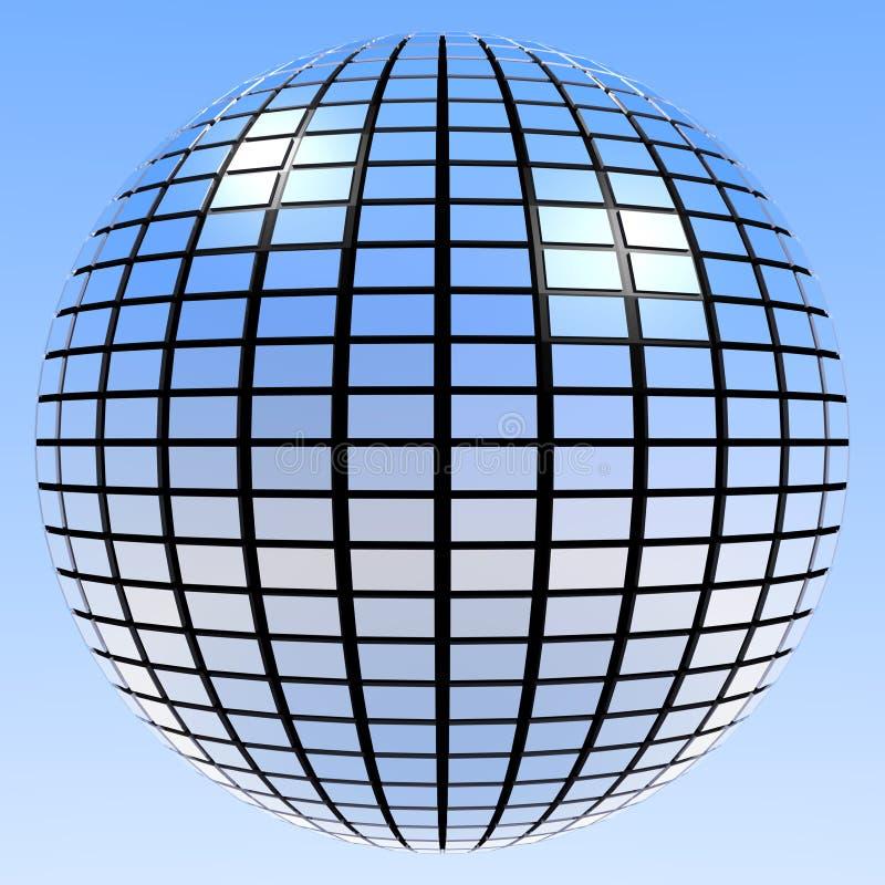 Retro sfera Mirrorball dello specchio royalty illustrazione gratis