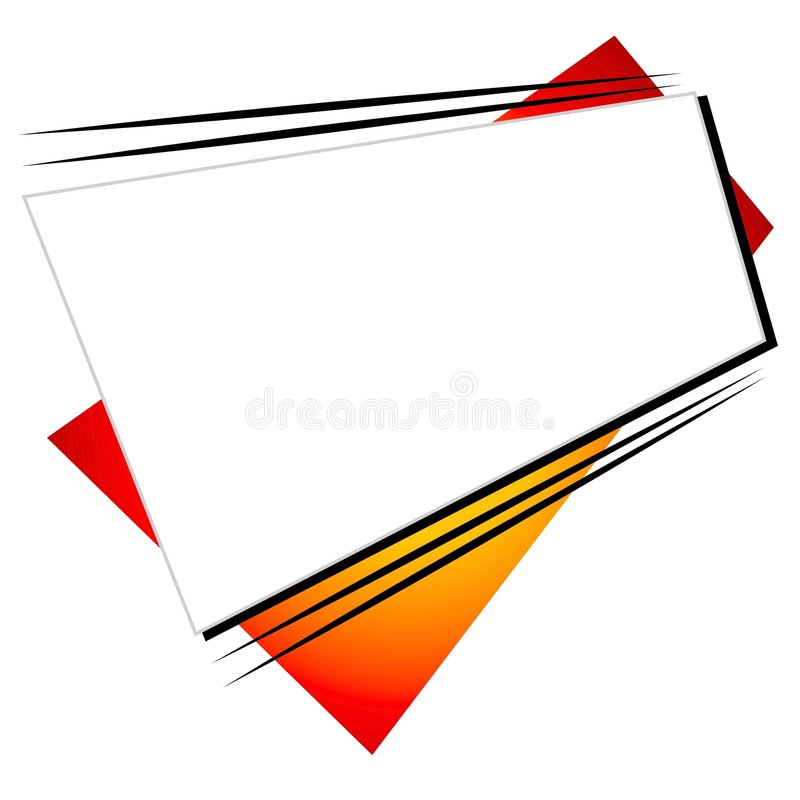 Retro Shapes Web Site Logo. An abstract retro shapes web site logo featuring odd shaped rectangles and stripes vector illustration