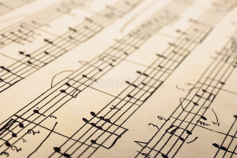 Retro sheet music royalty free stock photos