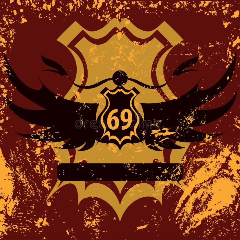 Retro shield grunge design vector illustration