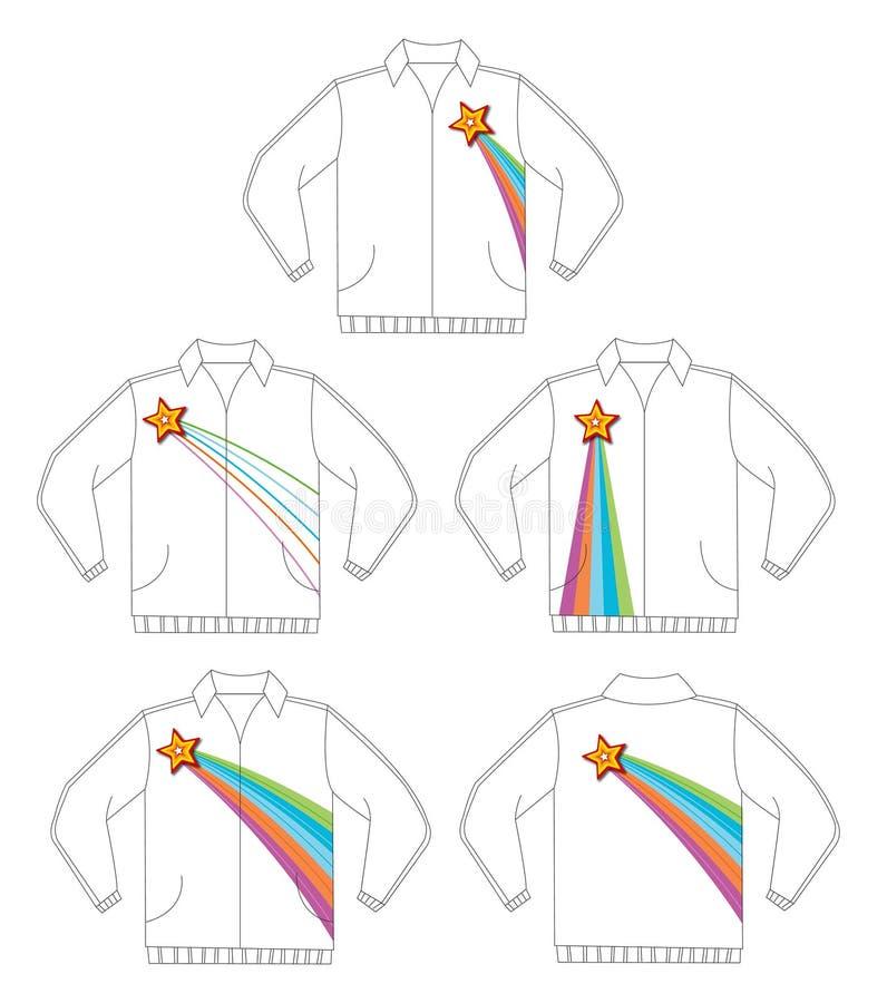 Retro shining star jacket