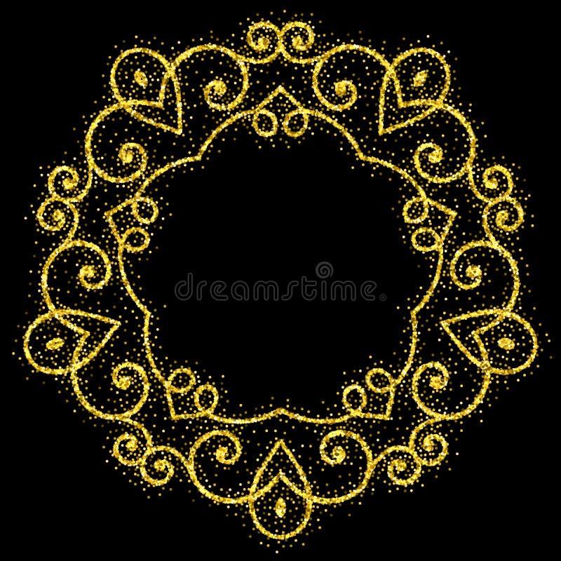 Free Retro Shiny Frame Or Border. Vector Illustration. Royalty Free Stock Image - 220488666