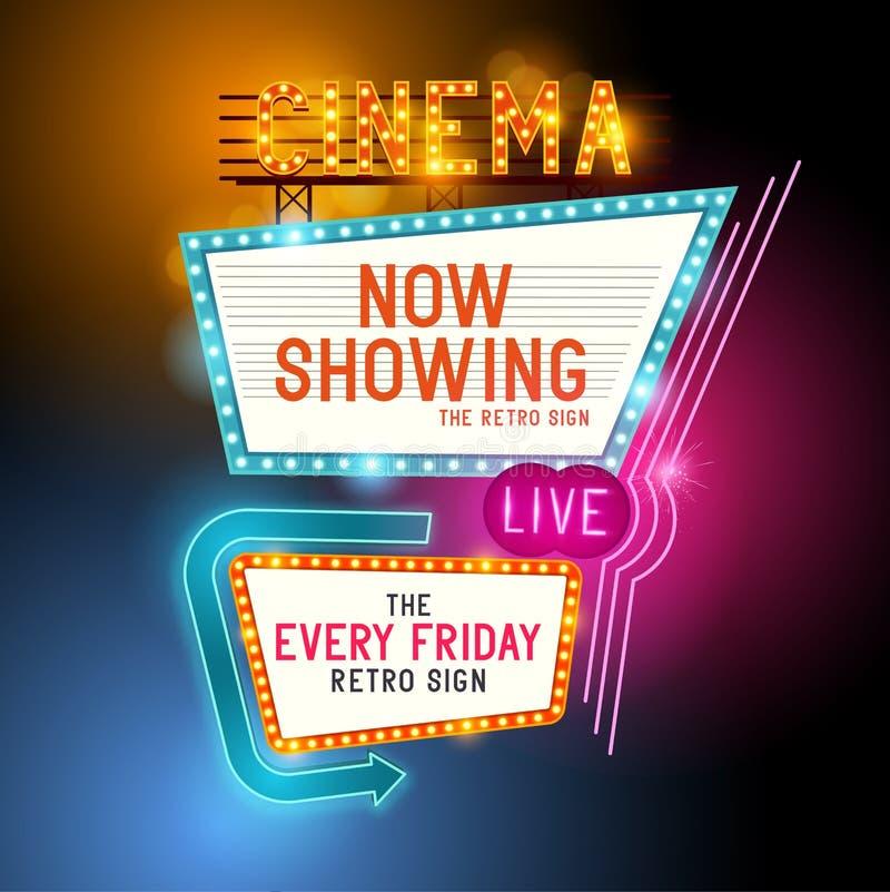 Retro- Showtime-Zeichen vektor abbildung