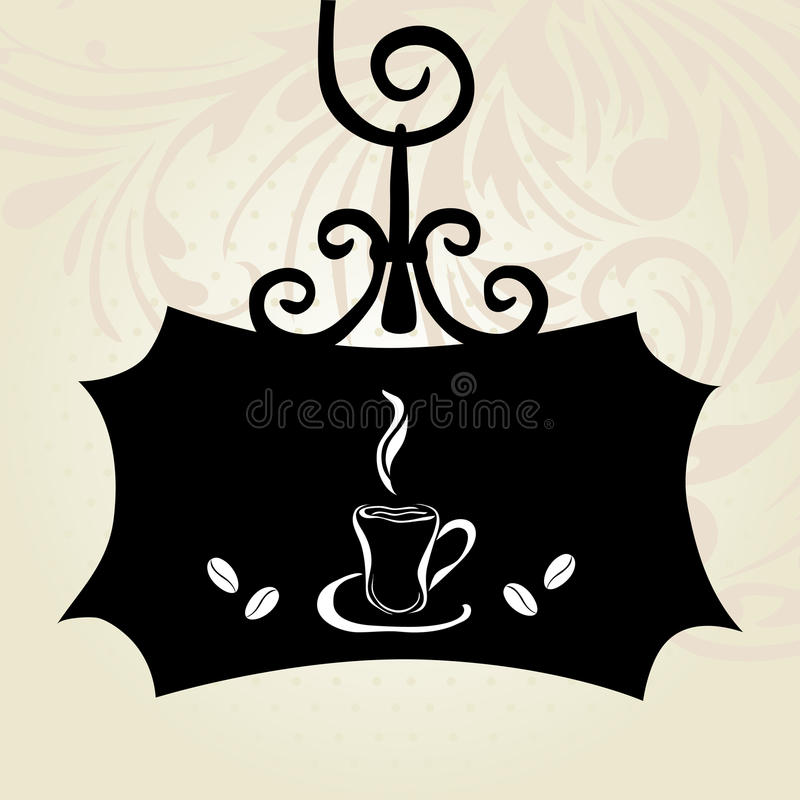 Download Retro Signboard With Coffee Cup Stock Vector - Illustration: 33221664