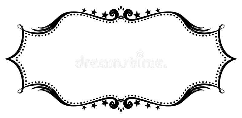 retro silhouette för ram royaltyfri illustrationer