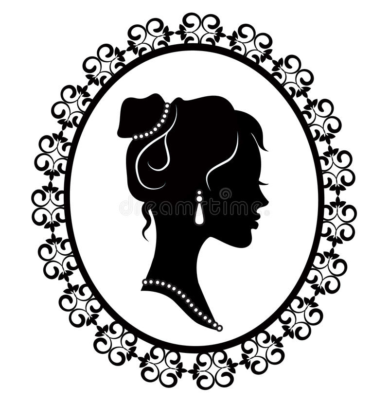 Download Retro Silhouette Profile Of A Young Girl Stock Vector - Image: 30816875