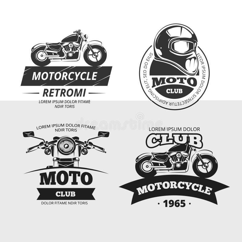 Retro silnika klub przylepia etykietkę wektoru set ilustracja wektor