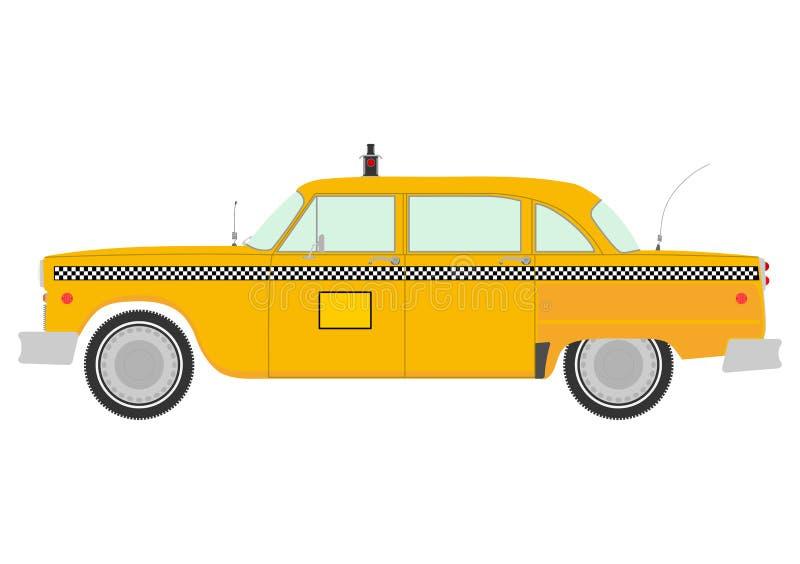 Retro siluetta gialla della carrozza. royalty illustrazione gratis