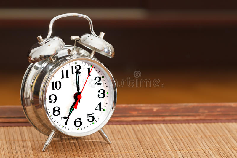 Download Retro Silver Alarm Clock Royalty Free Stock Images - Image: 19317629