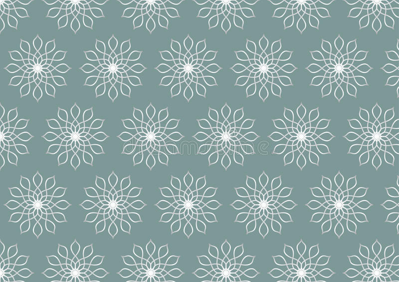 Retro Silver Flower Pattern on Pastel Color Background. Classic silver flower pattern on pastel background. Luxurious and beautiful pattern style for modern and stock illustration