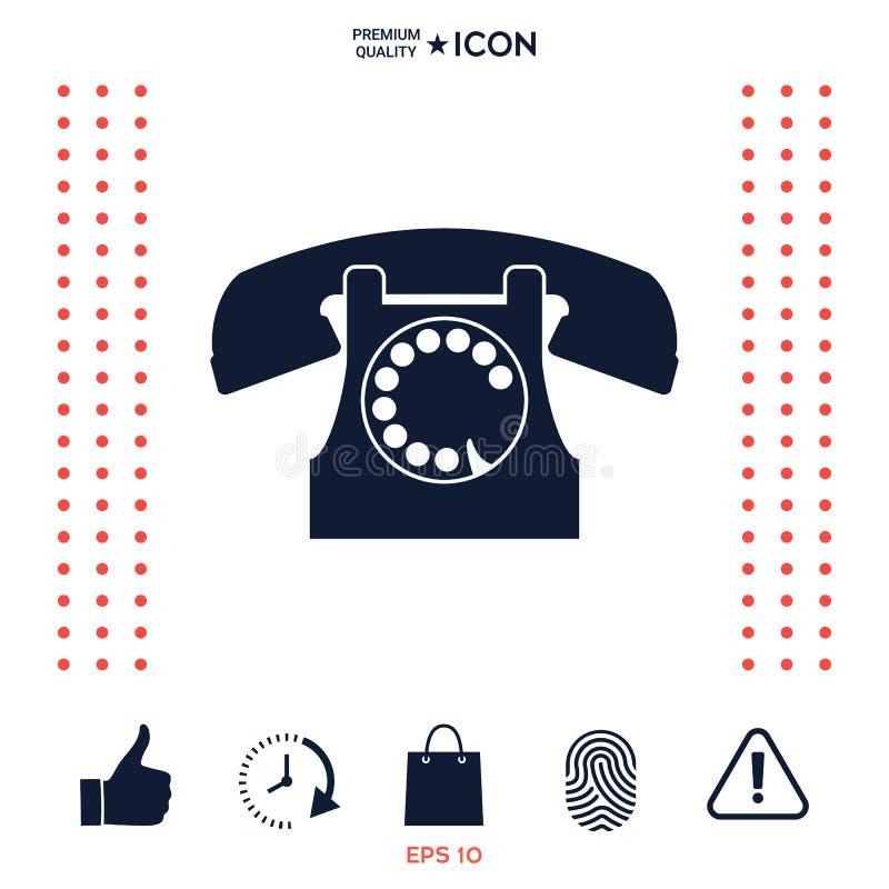 Download Retro simbolo del telefono illustrazione vettoriale. Illustrazione di semplice - 117976624