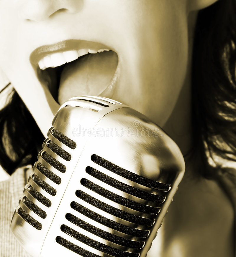 Retro Singer royalty free stock photography