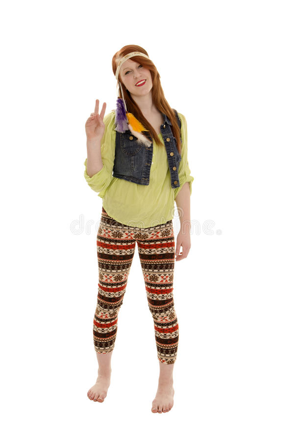 Download Retro Sixties Peace Love Hippie Chick Stock Image - Image: 25540433