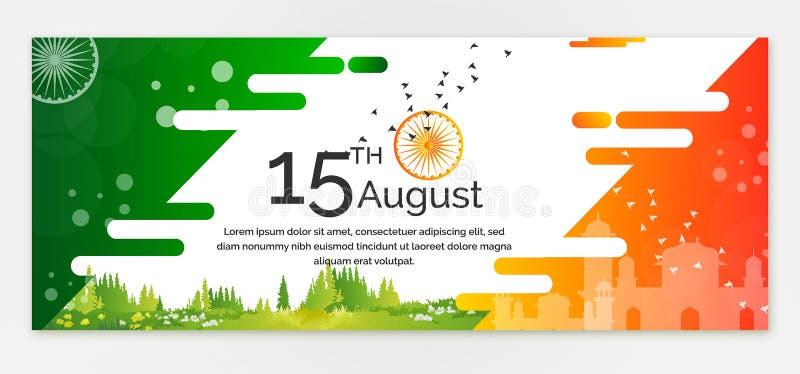 retro sj?lvst?ndighet f?r bakgrundsdaggrunge india 15th av august stock illustrationer