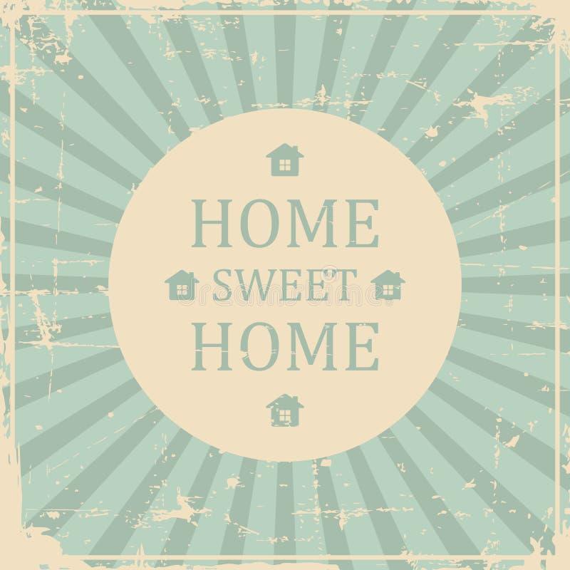 Retro sjaskigt för hem- tappning för sötsakhemSignage stock illustrationer