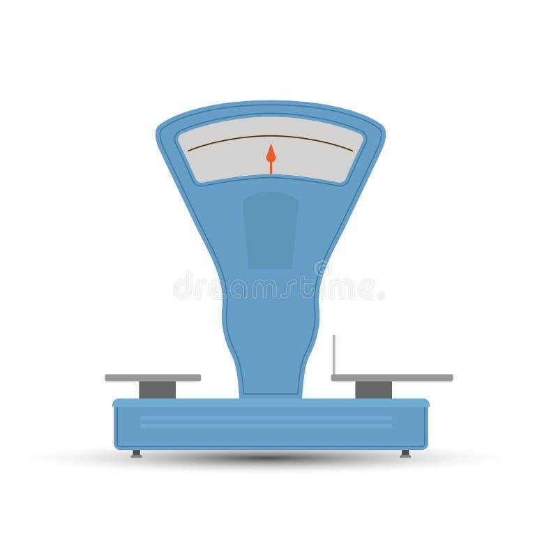 Retro skale dla ważyć produkty w sklepie ilustracji
