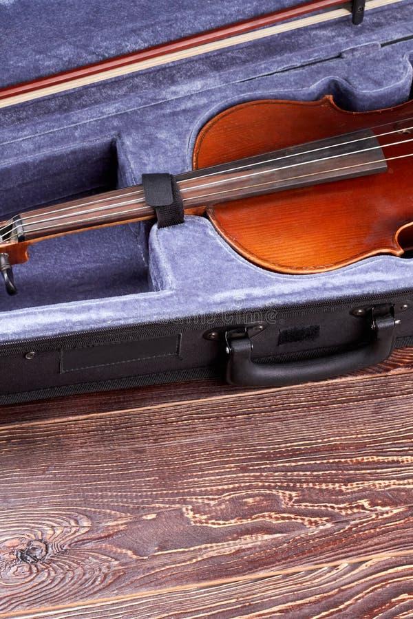 Retro skrzypce jeśli i kopii przestrzeń obraz royalty free