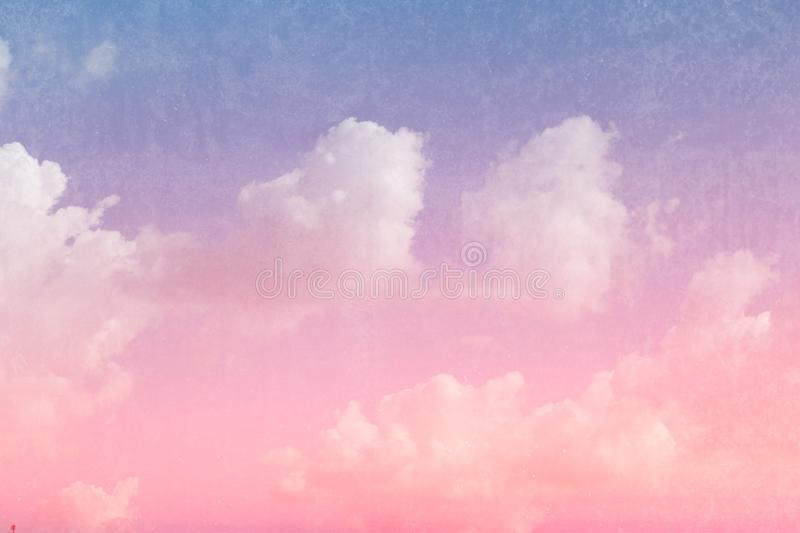 Retro sky and cloud with dirty texture filter color tone vintage royalty free stock image