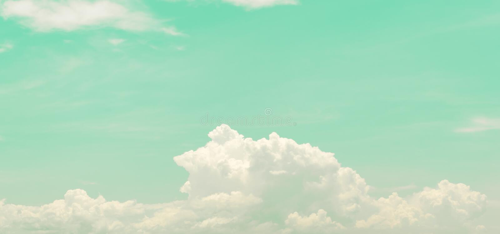 Retro sky and clouds, Soft. & Blur for background stock images