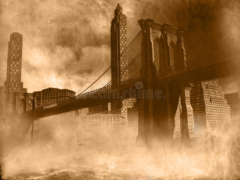 Download Retro sky line stock illustration. Image of brooklyn - 14453010