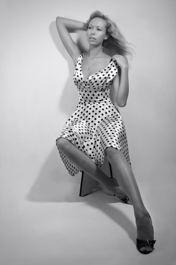 retro smokingowa kobieta obrazy royalty free