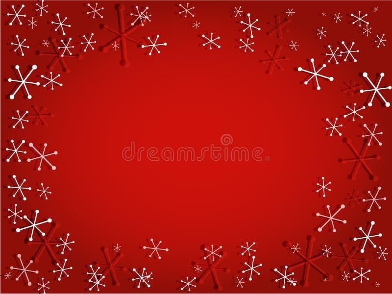 Retro sneeuwvlokken royalty-vrije illustratie