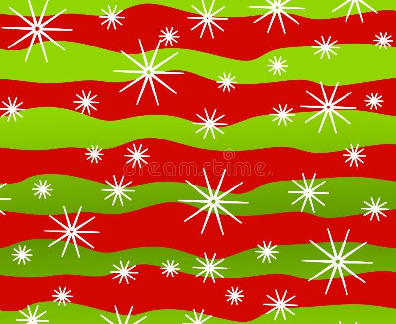 Retro Snowflakes Background 2 vector illustration