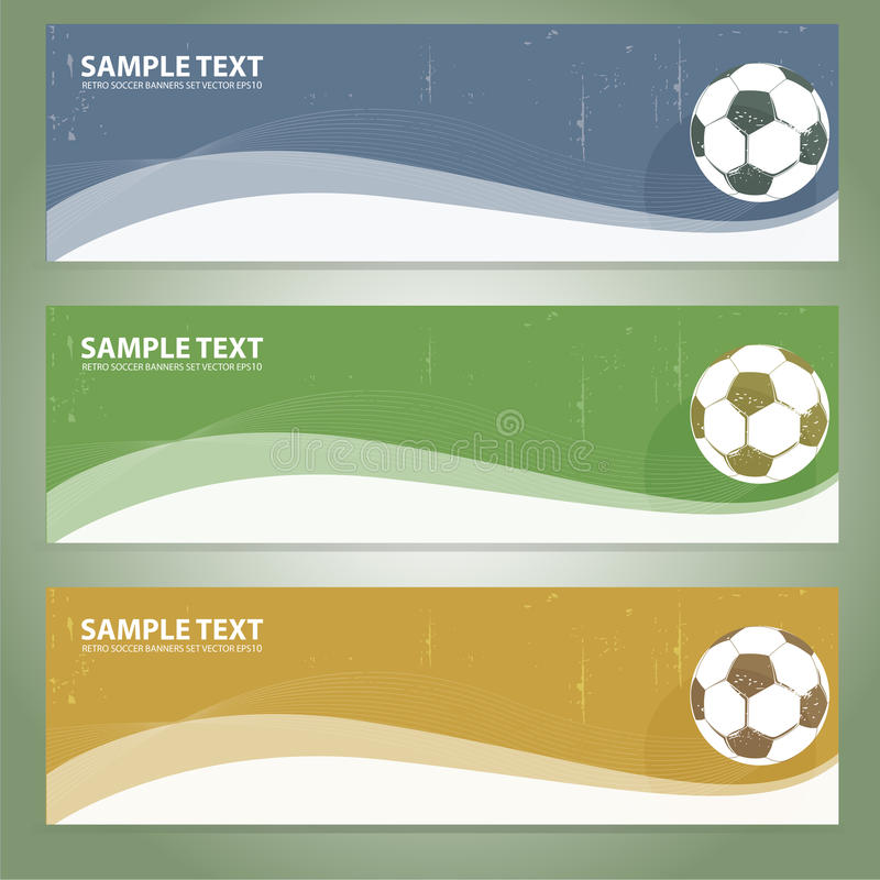 Retro soccer banners royalty free illustration