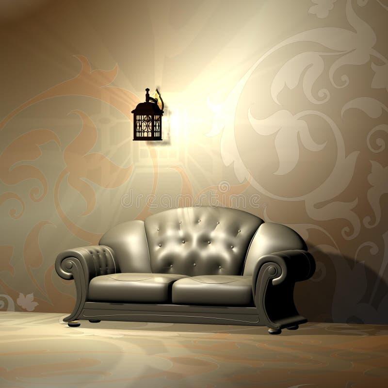 retro sofa stock illustrationer