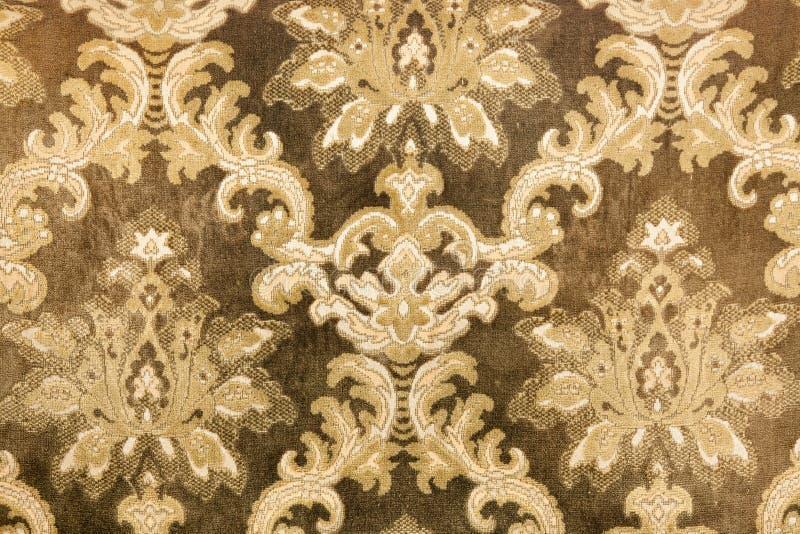 Retro sofa pattern. Background closeup of retro sofa pattern stock photo