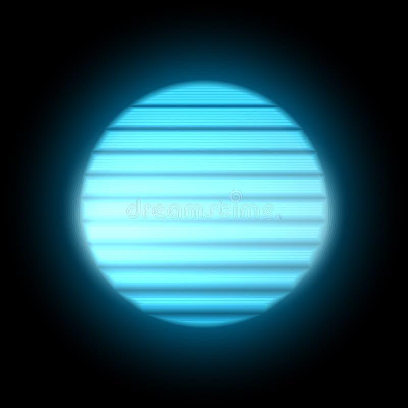 Retro sole al neon illustrazione vettoriale