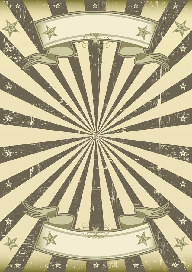 Retro solstrålebakgrund royaltyfri illustrationer
