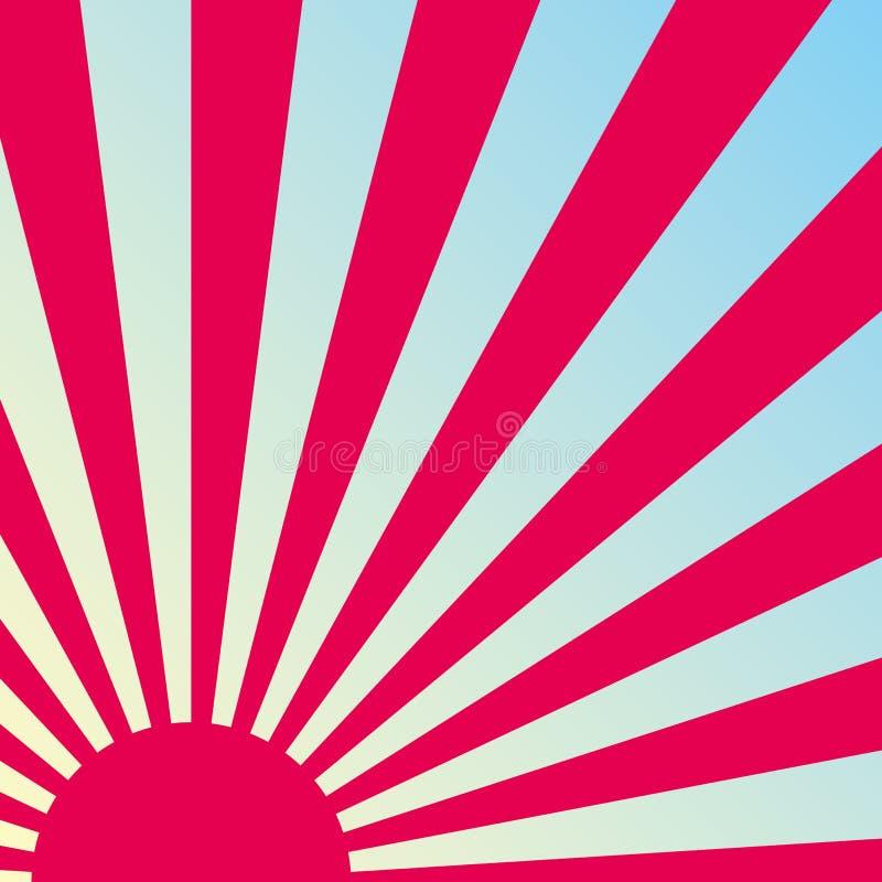 retro soluppgångvektor för abstrakt bakgrund vektor illustrationer