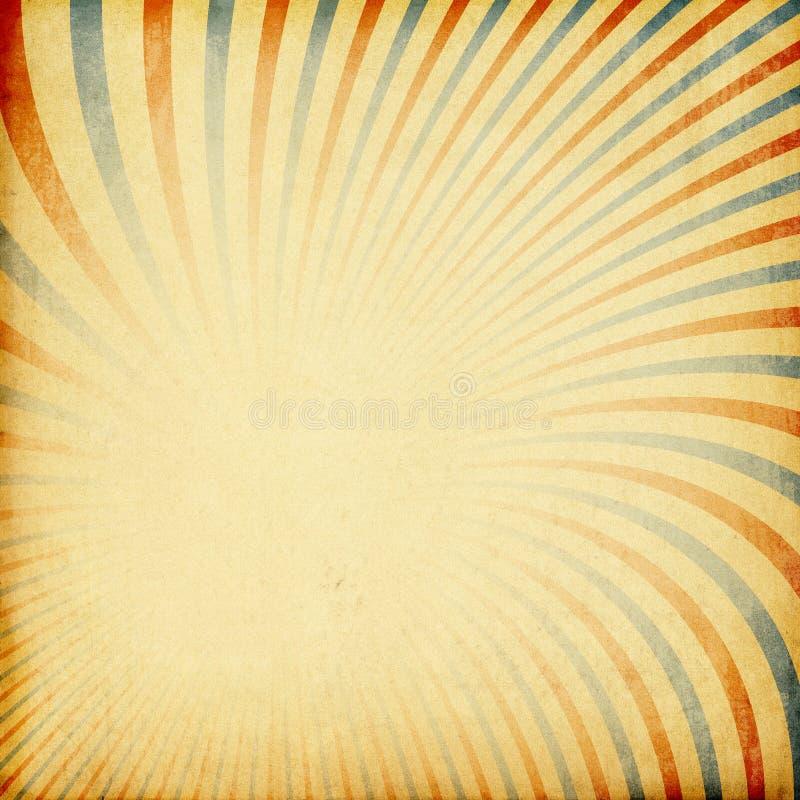 Retro- Sonnendurchbruchhintergrund. stock abbildung