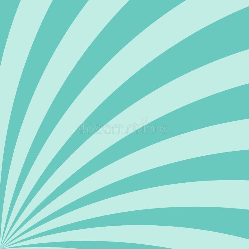 Retro- Sonnenlichthintergrund Explosionshintergrund des Türkises gewundener Farb Auch im corel abgehobenen Betrag stockbilder