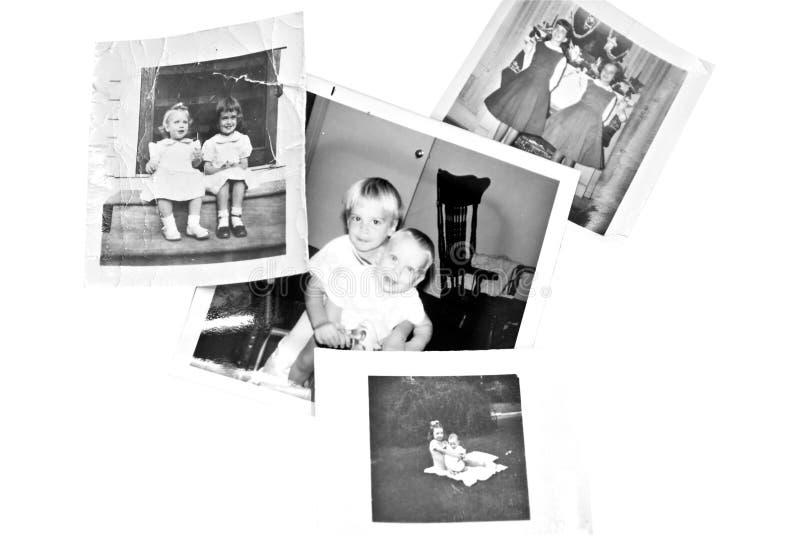 retro sorelle dei fratelli fotografie stock