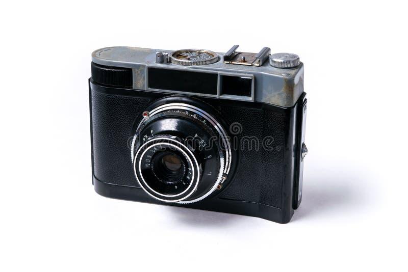Retro soviet film photographic camera stock photos
