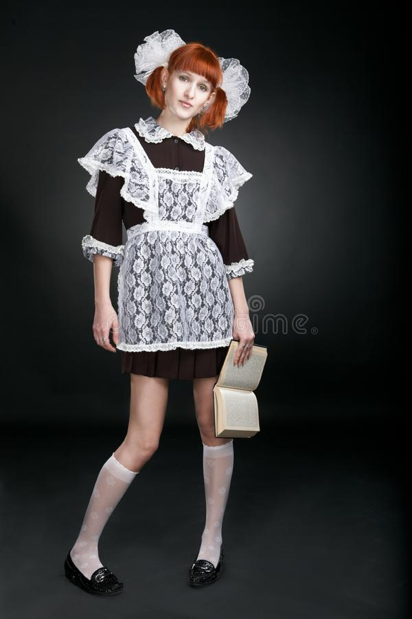 Download Retro Soviet Redhaired Girl With Book Stock Photo - Image: 8515554