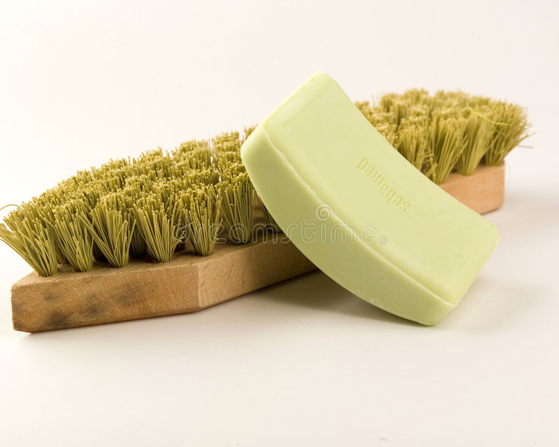 Download Retro spa supplies stock photo. Image of brush, housekeeping - 8580030