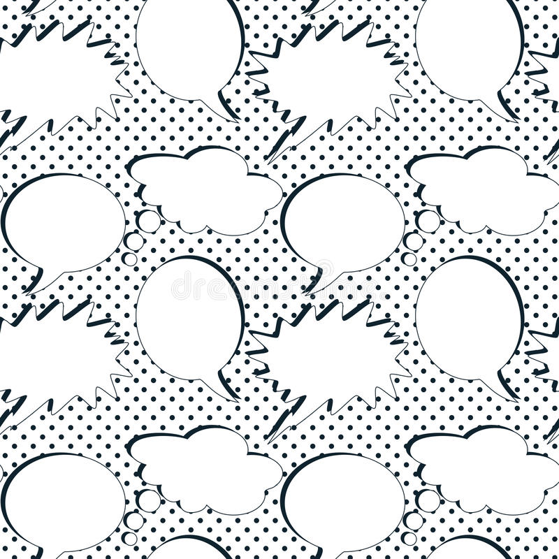 Retro Speech Bubbles Seamless Background Royalty Free Stock Photography