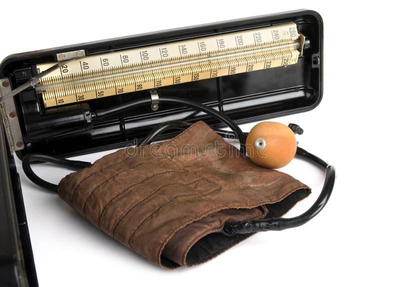 Retro sphygmomanometer stock afbeelding